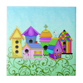 Birdie Village Tiles and Trivets