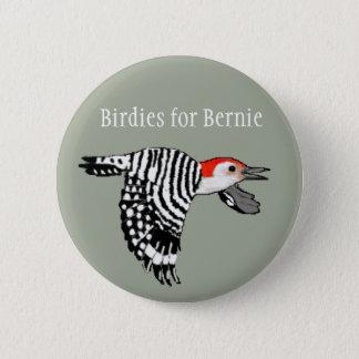 Birdies for Bernie! - Red-Bellied Woodpecker 6 Cm Round Badge