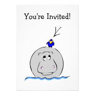 Birdie's Search for Hippo Custom Invites