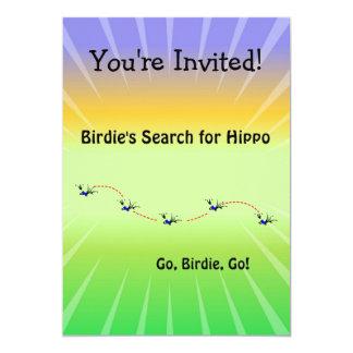 Birdie's Search for Hippo Custom Invitation