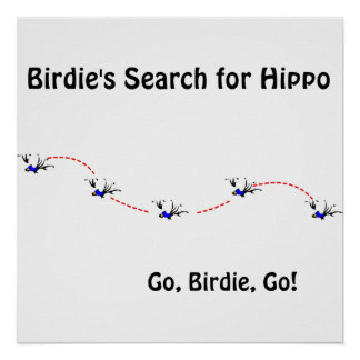 Birdie's Search for Hippo Print