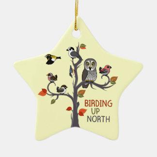 Birding Up North Ceramic Ornament