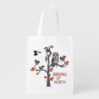 Birding Up North Reusable Grocery Bag