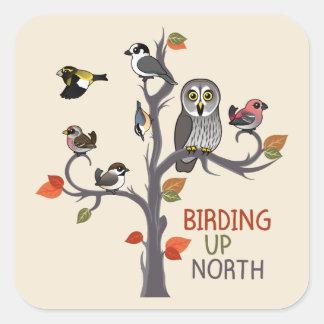 Birding Up North Square Sticker