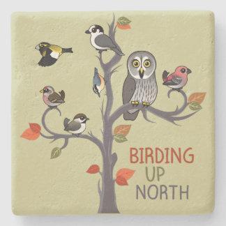 Birding Up North Stone Coaster