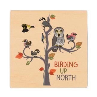 Birding Up North Wood Coaster