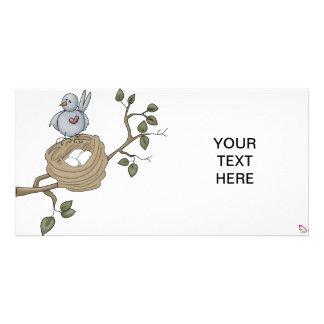 birdnest1 photo card template