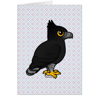Birdorable Black Hawk-Eagle Card