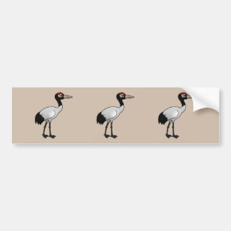 Birdorable Black-necked Crane Bumper Sticker