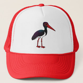 Birdorable Black Stork Trucker Hat