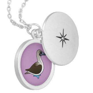 Birdorable Blue-footed Booby Locket Necklace