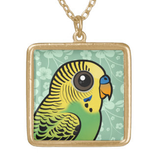 Birdorable Budgerigar Gold Plated Necklace