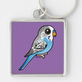 Birdorable Budgie Blue Key Ring