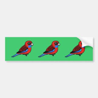 Birdorable Crimson Rosella Bumper Sticker