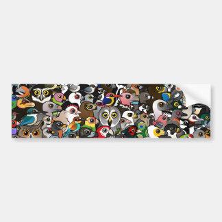 Birdorable Crowd Bumper Sticker