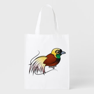Birdorable Greater Bird-of-paradise Reusable Grocery Bag