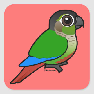 Birdorable Green-cheeked Conure Square Sticker