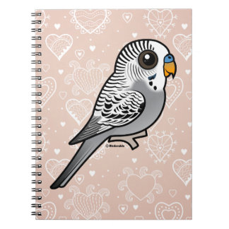 Birdorable Grey Budgie Spiral Notebook