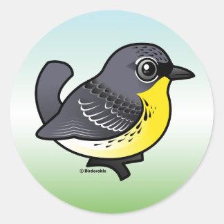 Birdorable Kirtland's Warbler Round Sticker
