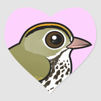 Birdorable Ovenbird Heart Sticker