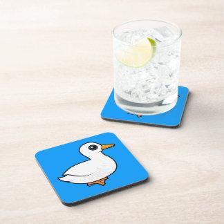 Birdorable Pekin Duck Drink Coaster