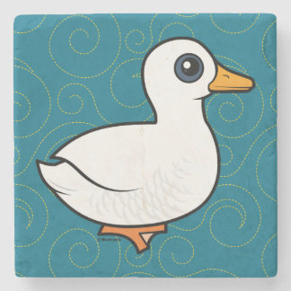 Birdorable Pekin Duck Stone Coaster