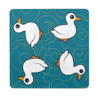 Birdorable Pekin Duck Puzzle Coaster