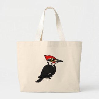 Birdorable Pileated Woodpecker Large Tote Bag