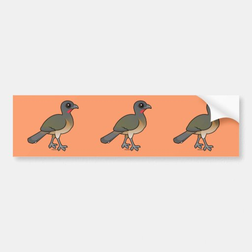 Birdorable Plain Chachalaca Bumper Stickers