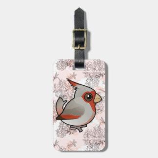 Birdorable Pyrrhuloxia Luggage Tag