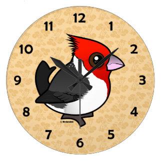 Birdorable Red-crested Cardinal Large Clock