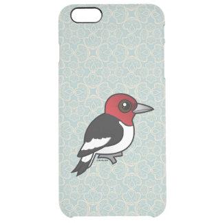 Birdorable Red-headed Woodpecker Clear iPhone 6 Plus Case