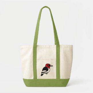 Birdorable Red-headed Woodpecker Tote Bag