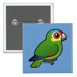 Birdorable Red-lored Parrot Pinback Button