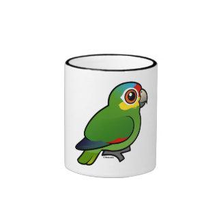 Birdorable Red-lored Parrot Coffee Mug