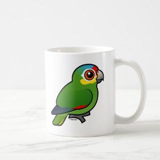 Birdorable Red-lored Parrot Coffee Mugs