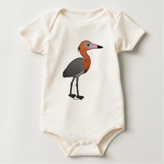 Birdorable Reddish Egret (dark morph) Baby Bodysuit