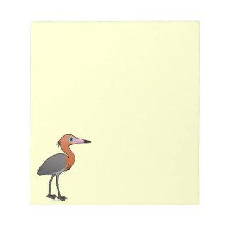 Birdorable Reddish Egret (dark morph) Notepad
