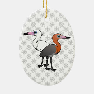 Birdorable Reddish Egrets Ceramic Ornament