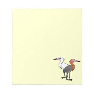 Birdorable Reddish Egrets Notepad