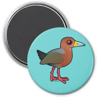 Birdorable Rufous-necked Wood-Rail 7.5 Cm Round Magnet