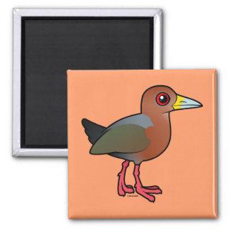 Birdorable Rufous-necked Wood-Rail Magnets