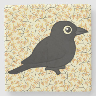 Birdorable Rusty Blackbird Stone Coaster