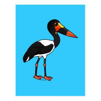 Birdorable Saddle-billed Stork Postcard