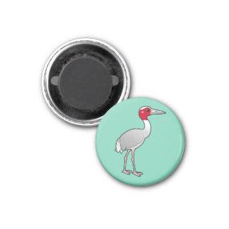 Birdorable Sarus Crane 3 Cm Round Magnet
