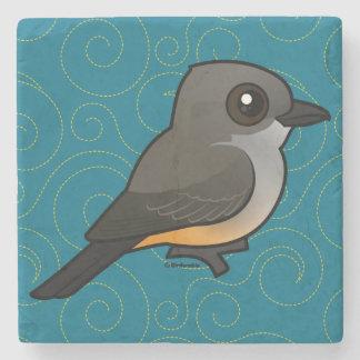 Birdorable Say's Phoebe Stone Coaster