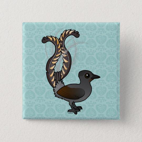 Birdorable Superb Lyrebird 15 Cm Square Badge