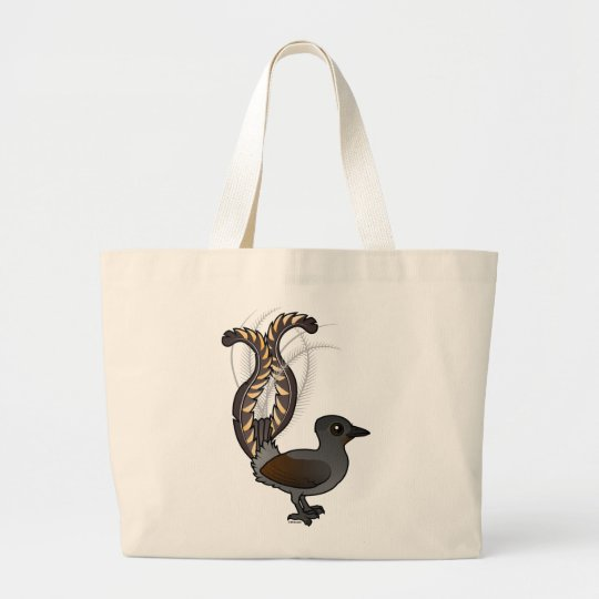 Birdorable Superb Lyrebird Large Tote Bag