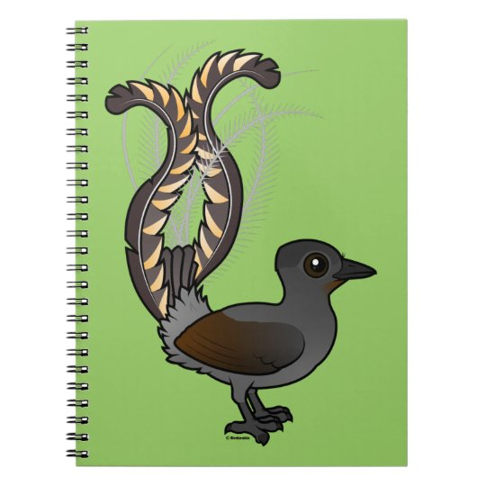 Birdorable Superb Lyrebird Notebooks