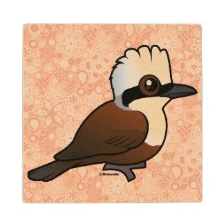 Birdorable White-crested Laughingthrush Wood Coaster